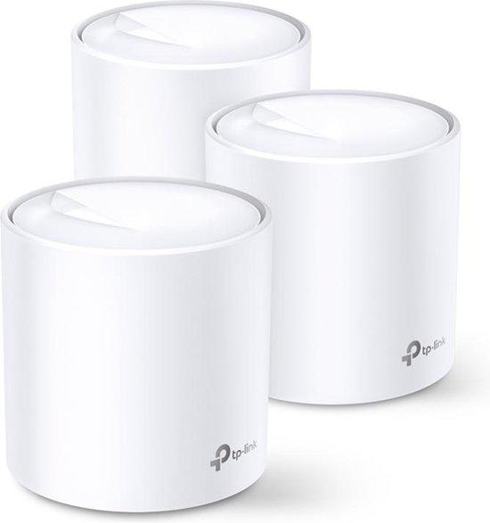 TP-Link Deco X20 - Multiroom wifi systeem - AX - geschikt voor WIFI 6 - 1750 Mbps / 3-pack