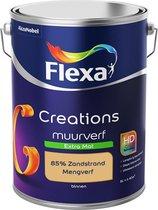 Flexa Creations Muurverf - Extra Mat - Mengkleuren Collectie - 85% Zandstrand  - 5 liter