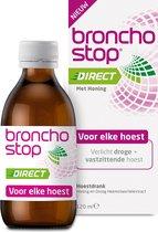 Bronchostop Direct hoestdrank - met Honing - directe verlichting bij vastzittende hoest, kriebel- en prikkelhoest - 120ml