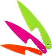 ProductGoods - 3 soorten / kleuren gekartelde kunststof kindermessen - Kindermes - veiligheidsmes - Kindvriendelijke gekleurde messenset voor kinderen - Kids Kitchen Knife Set 3 Piece