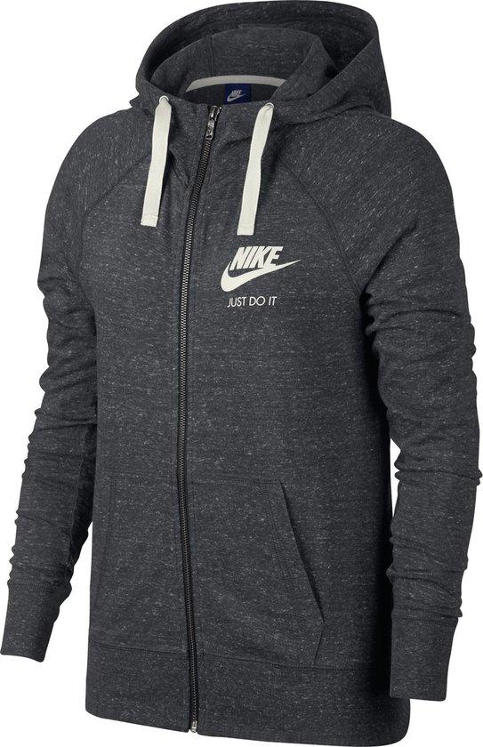 Nike W NSW Gym Vntg Hoodie Fz Sportvest Dames - Anthracite/Sail - Maat S