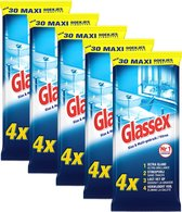 Glassex Schoonmaakdoekjes - Glas & Vuil - 5x 30 stuks - Voordeelverpakking