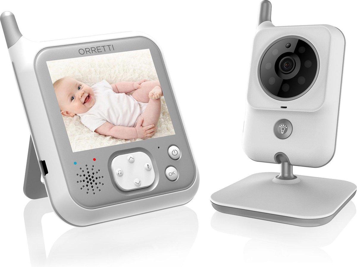 Orretti® V9 Babyfoon met camera - Sterkere Batterij - Beter Zendbereik - Groot LCD scherm -  Terugsp