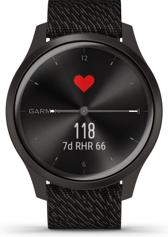 Garmin Vivomove Style - Smartwatch - 42 mm - Black Pepper