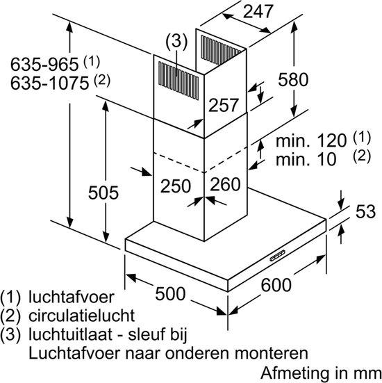 Siemens LC66BBC50 - iQ100 - Afzuigkap - Wandschouw