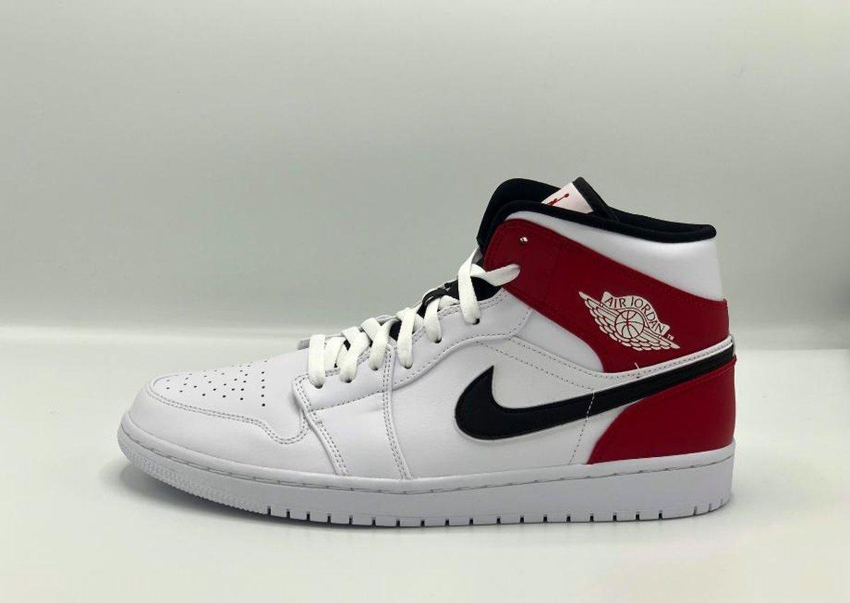 bol.com   Air Jordan 1 Mid (Wit/Rood) - Maat 45
