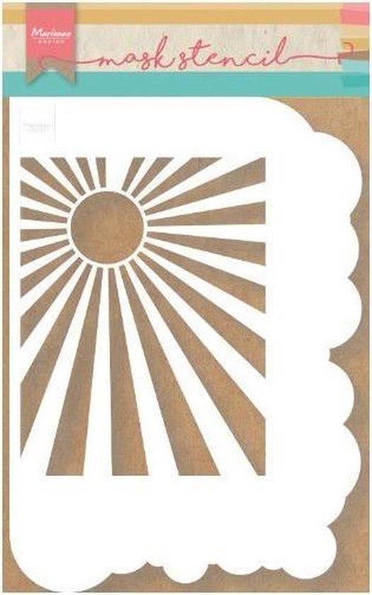 Marianne Design Mask Stencil - clouds & sunburst