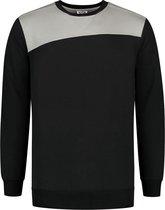 Tricorp Sweater Bicolor Naden 302013 Zwart / Grijs - Maat 4XL