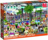 Wanderlust Collection Amsterdam Flower Market Premium Collection Puzzel 1000 Stukjes