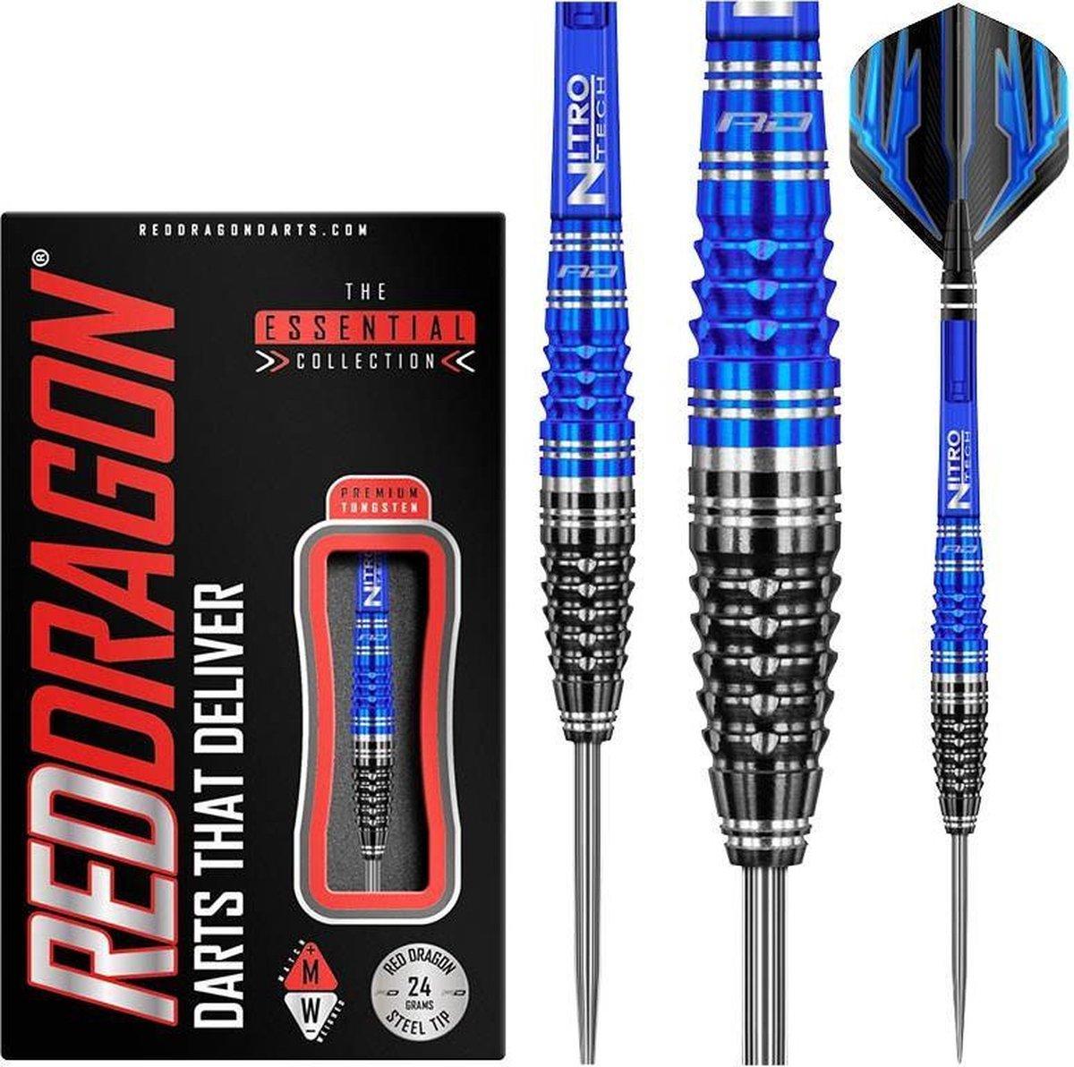 RED DRAGON - Delta 2: Steeltip Tungsten Dartpijlen Professioneel - 24 gram