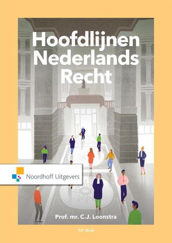 Boek cover Hoofdlijnen Nederlands recht van Prof.Mr.C.J. Loonstra (Paperback)
