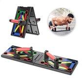 12 in 1 Push up bord - Inclusief workout schema - Weerstandsbanden - Inklapbaar - Thuis sporten - Elastiek Fitnessen - Workout toestel - Opdruksteun - Resistance bands - Accessoires