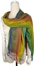 ThannaPhum Kleurrijke Kleurrijke sjaals groot formaat