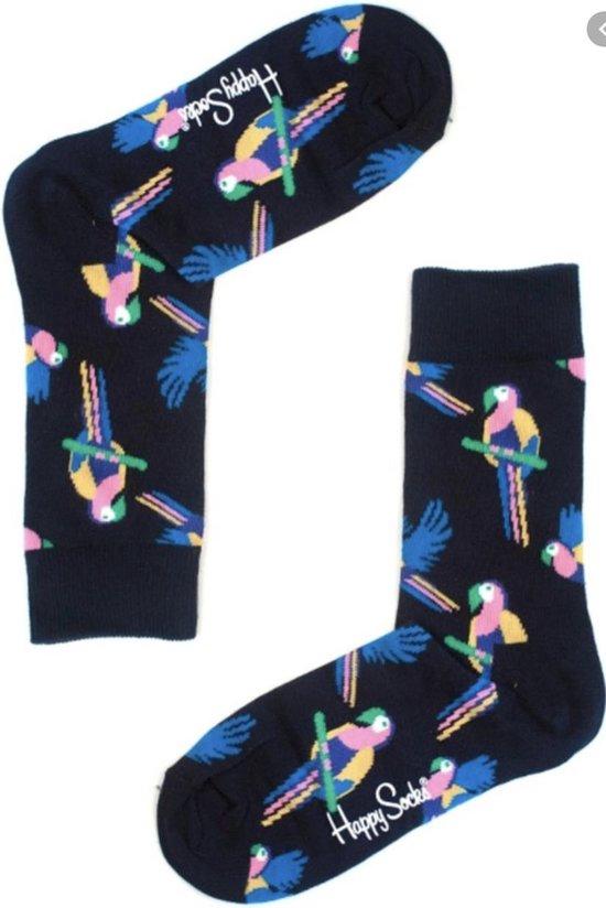 Happy Socks Dames Parrot Donkerblauw| Maat 36-40
