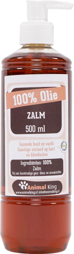 Zalmolie-honden-Animal King-500ml