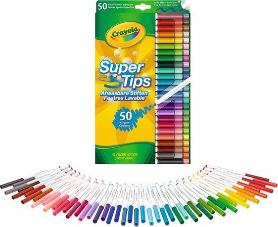Afbeelding van Crayola 50 Afwasbare Viltstiften met superpunt