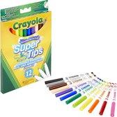 Crayola 12 Viltstiften met superpunt