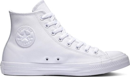 Converse All Stars Leather Hoog 1T406 Wit-35