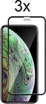 Screenprotector iPhone 11 - Beschermglas iPhone XR Screenprotector Glas - iPhone 11 Screen Protector - Full cover - 3 stuks
