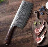 Hakmes voor vlees | 31cm | Roestvrij Staal | Messenslijper incl.