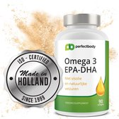 Omega 3 Visolie Capsules (DHA/EPA) - 90 Softgels - PerfectBody.nl
