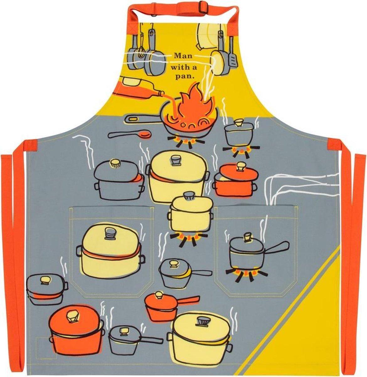 BlueQ BBQ Schort - Man Met een Pan