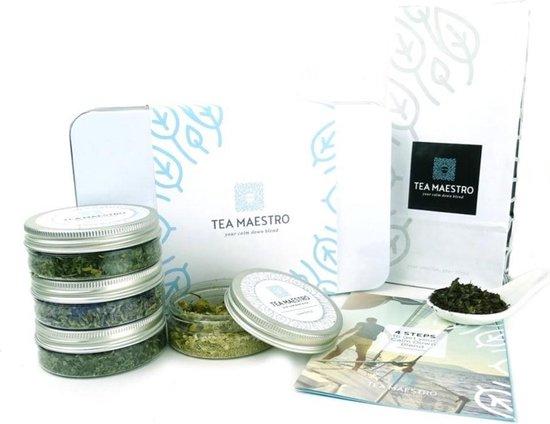 Dutch Tea Maestro - Zelf thee blenden pakket voor thuis - CALM DOWN / Relax & Ontspan - losse thee - origineel cadeau - kerstcadeau