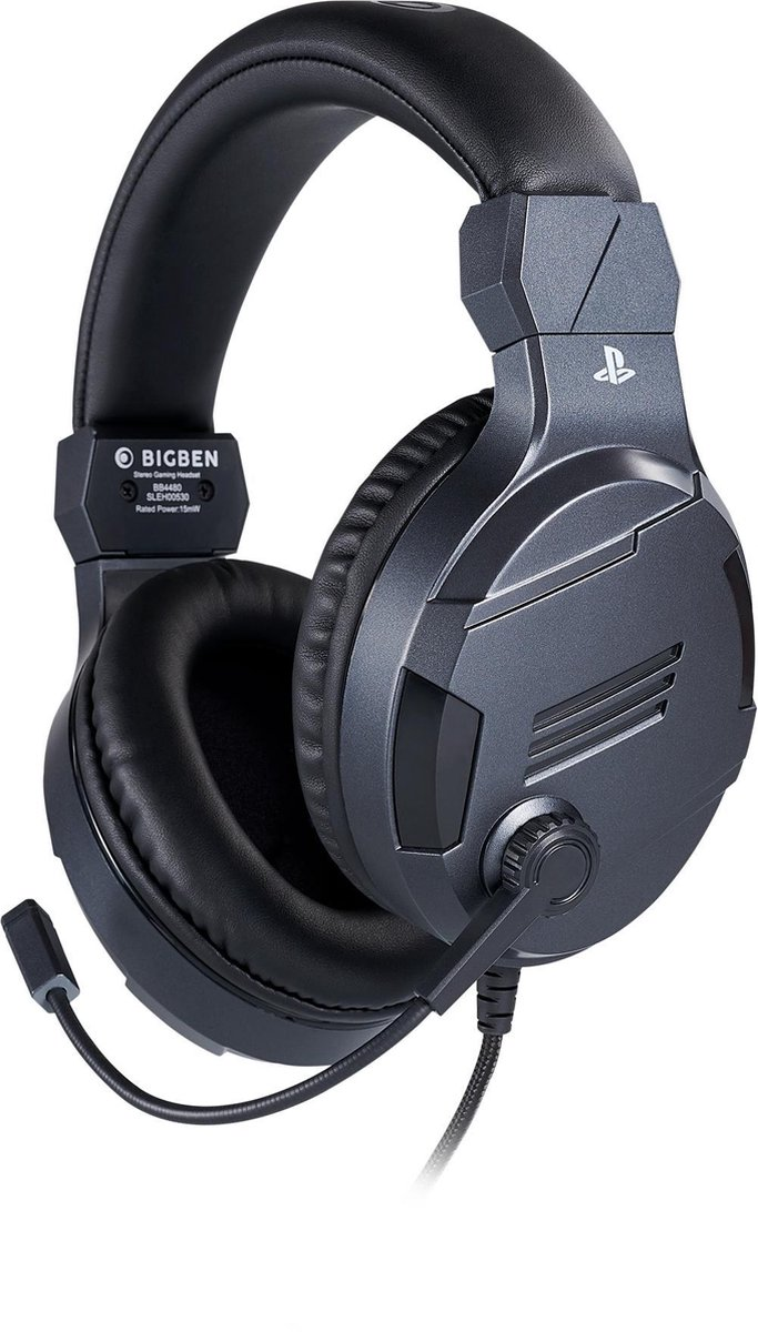 Bigben Official Licensed Playstation Stereo Gaming Headset V3 - PS4 & PS5 - Titanium