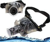 Navitech  Zwarte waterdichte onderhoes / hoeszak droge hoes voor DSLR / Bridge Cameras met Lens