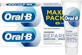 Oral-B Tandvlees & Glazuur Repair Zachte Whitening - 2x75 ml - Tandpasta