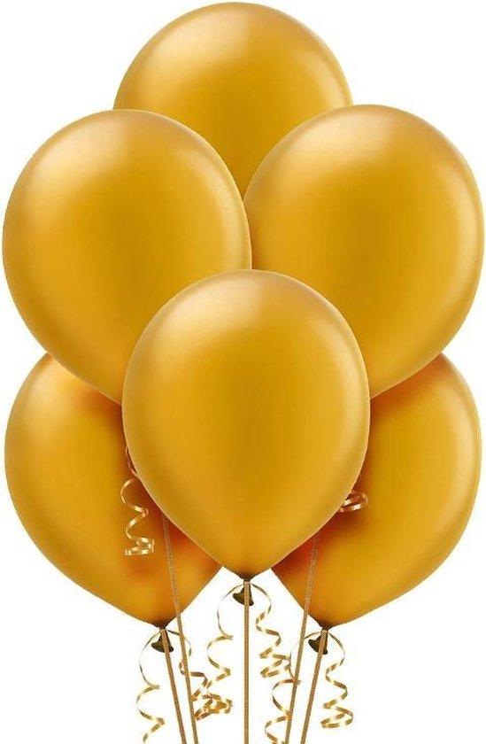 Party Colors Gouden Metallic Ballonnen 30 cm l 50 stuks