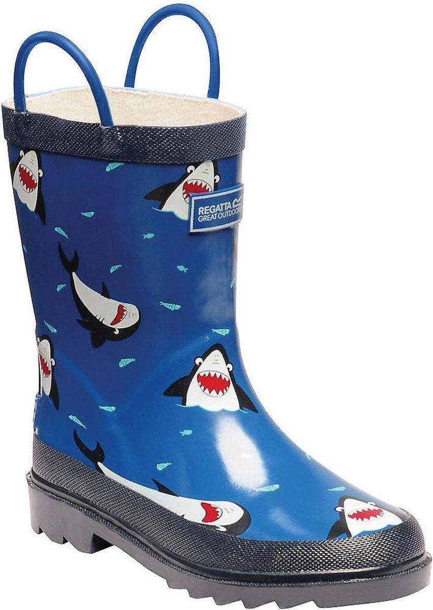 Regatta Kids Minnow Printed Wellington Boots Laarzen Kinderen Maat 38 Blauw
