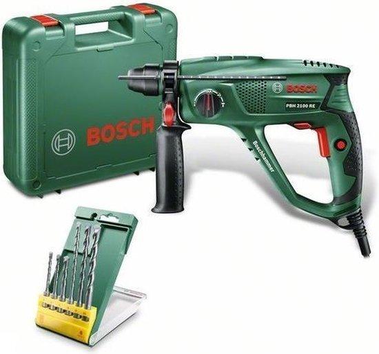 Bosch PBH 2100 RE Boorhamer - 550 Watt - 1.7 J - Incl. gratis extra 6-delige SDS Plus S2 borenset