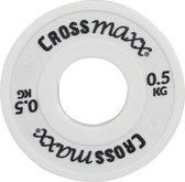 Elite fractional halterschijf 50mm 0.5 kg - wit