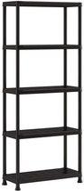 Keter Plus shelf 75/5 - 5  Planken - 75x32x176 cm - Zwart