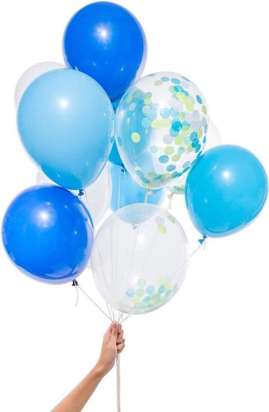 Knot & Bow   Ballonnen Mix   Blauw   12 stuks   30cm
