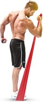 Fitness Elastiek - Resistance Band - Weerstandsband voor Thuis Sporten - Full Body Trainer - Rood