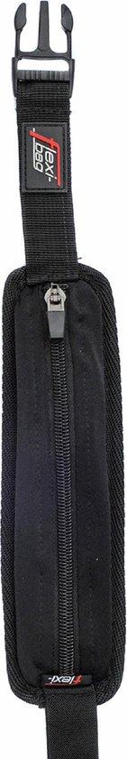 Flexi Bag, zwarte running belt met extreem veel rek - hoge kwaliteit voor (wielren)fietsen, hardlopen, paardrijden, zeilen, mountainbiken, suppen, surfen, shoppen en andere buitensporten