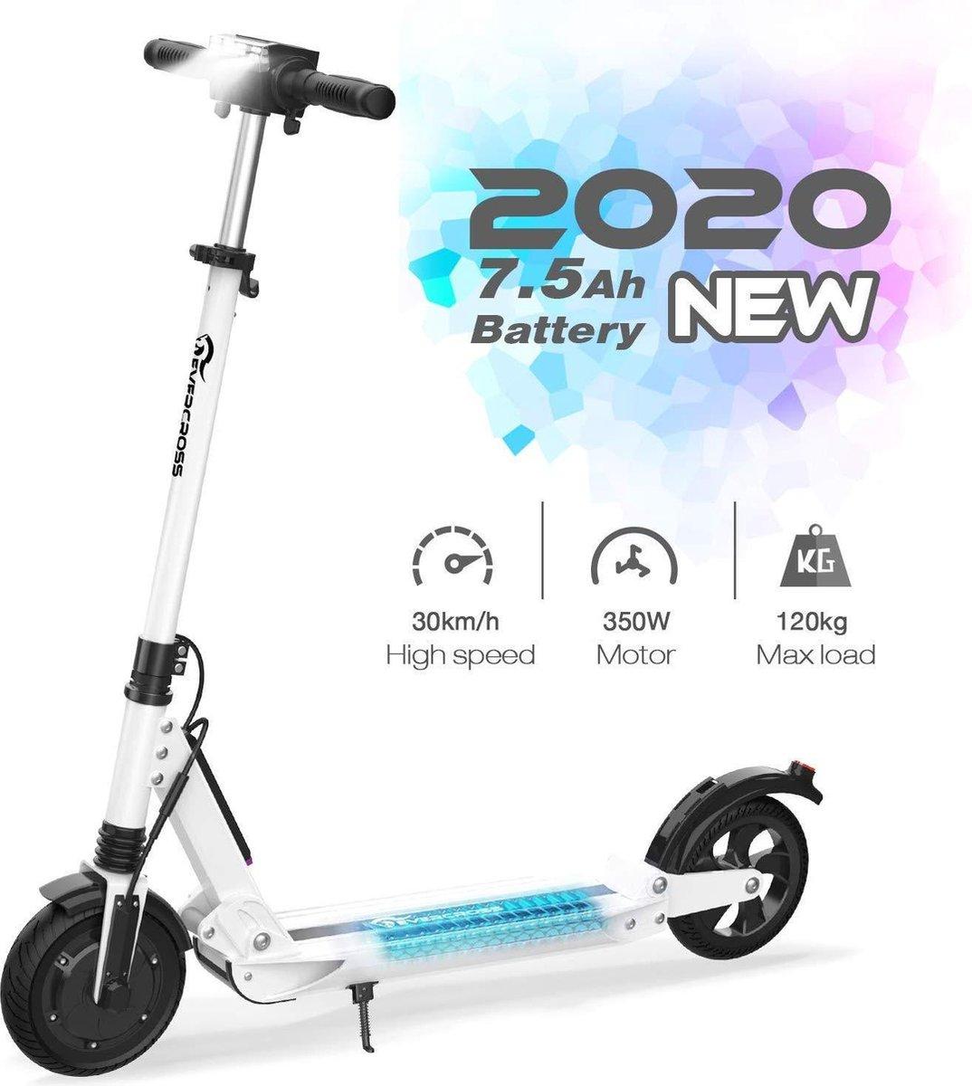 """Elektrische Step E-scooter, Opvouwbaar, 7.8Ah, 250W, 8"""", Wit"""