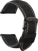 Garmin Vivoactive 3 leren bandje - zwart - 42mm