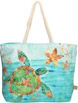 PE Florence Canvas Strandtas Shopper Ibiza Beach Bag Natuur