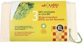Herbruikbare Fruit en Groente Zak XL (3st) - 40x40cm
