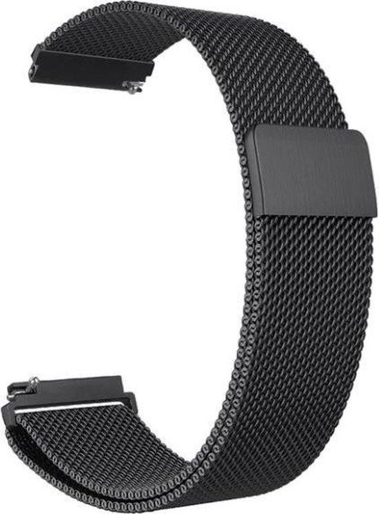 Horlogeband van RVS voor Shinola   22 mm   Horloge Band - Horlogebandjes   Zwart