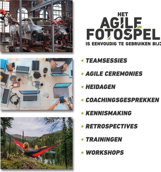 Agile Fotospel - Associatiekaarten - 70 Foto's - Coachkaarten - Scrum - Kanban - Fotokaarten voor Training, Workshop en Retrospective