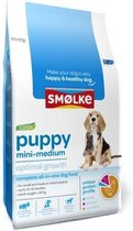 Smolke puppy mini/medium brokken hondenvoer 3 kg.