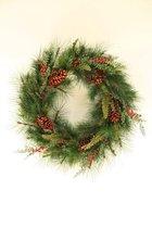 Viv! Home Luxuries Kerstkrans - zeer groot! - rood groen - 90cm - topkwaliteit