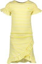 Like Flo Gestreepte jersey jurk met ruffles en smock Meisjes Jurk 128