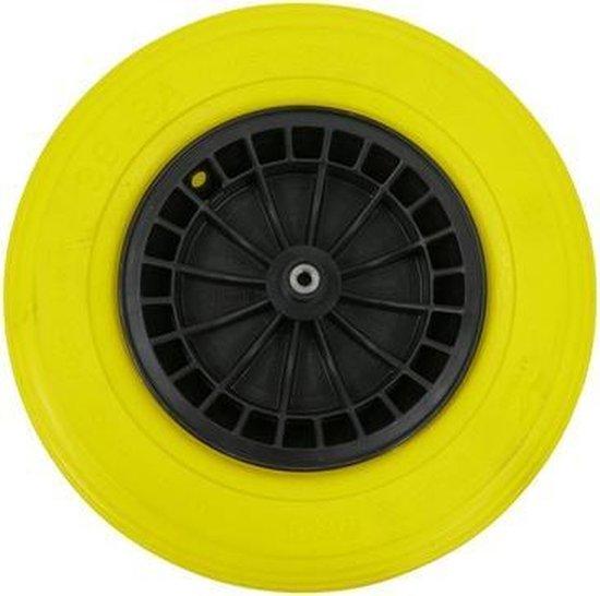Altrad Fort Flex Pro kruiwagenwiel zwart/geel 13 cm