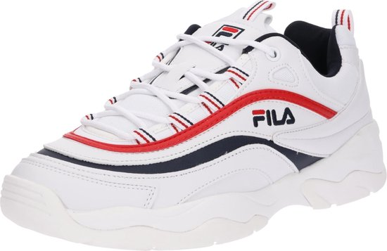 Fila Ray Low Sneakers Heren - White/Fila Navy/Fila Red  - Maat 43