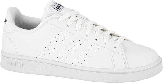 adidas Heren Witte Advantage Base - Maat 43 1/3